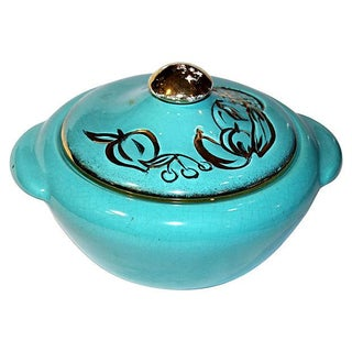 Hoenig Aqua Lidded Bowl