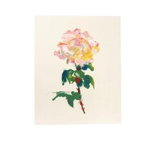 """Anne-Marie Joly """"Fleur Rose"""" Lithograph"""