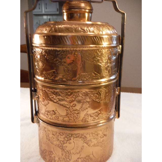 """Vintage Copper Clad """"Tiffin"""" or """"Dabba"""" - Image 3 of 9"""