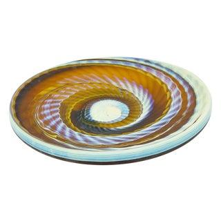 Large Vintage Hand-Made Syrian Glass Platter