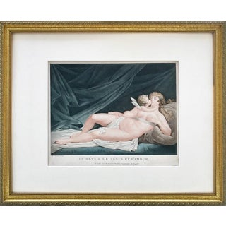 Venus and Cupid Antique Engraving by Fréderic Cazenave