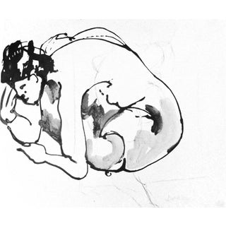 """Yoga Pose"" Original Drawing by Martha Holden"