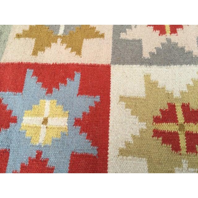 Wool Indian Dhurrie Rug - 5' x 8' - Image 4 of 9