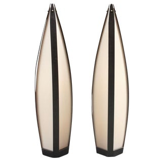 Elongated Tear Drop Lantern Table Lamps - a Pair