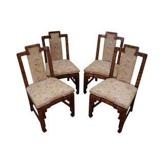 Asian Style James Mont Era Dining Chairs - S/4