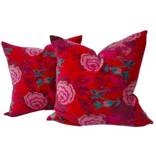 Velvet Rose Pillows- A Pair