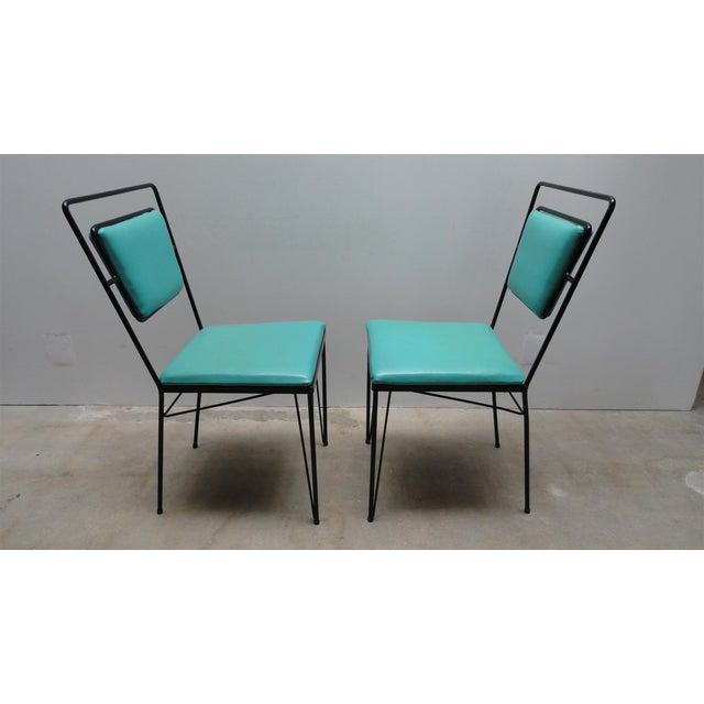 Atomic Age Mid-Century Iron Dining Set - Image 9 of 11