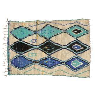 Vintage Moroccan Berber Rug - 4′ × 5′9″
