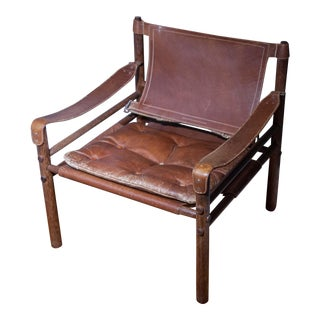 Arne Norell Sirocco Safari Leather & Rosewood Chair