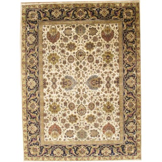 Pasargad Hand-Knotted Tabriz Rug - 9′ × 12′