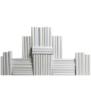 Modern White Wrapped Book Wall, S/50