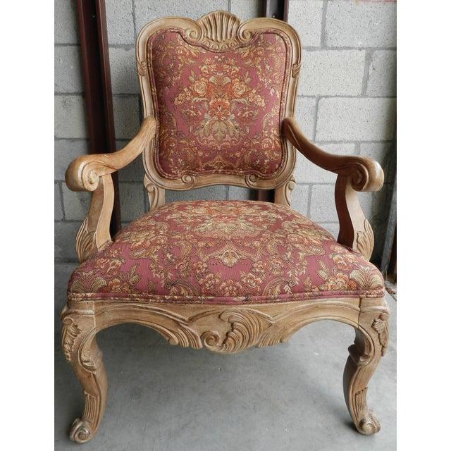 Rococo Open Arm Chairs A Pair Chairish