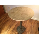Image of Marble Accent Table with Iron Base