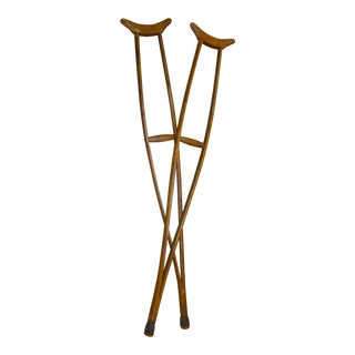 Rustic Primitive Bentwood Medical Crutches - a Pair