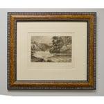 Image of Scottish Whitewater - 1896 Etching Framed