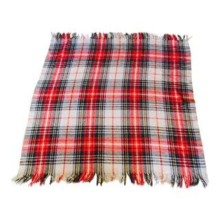 Vintage Plaid Wool Blanket