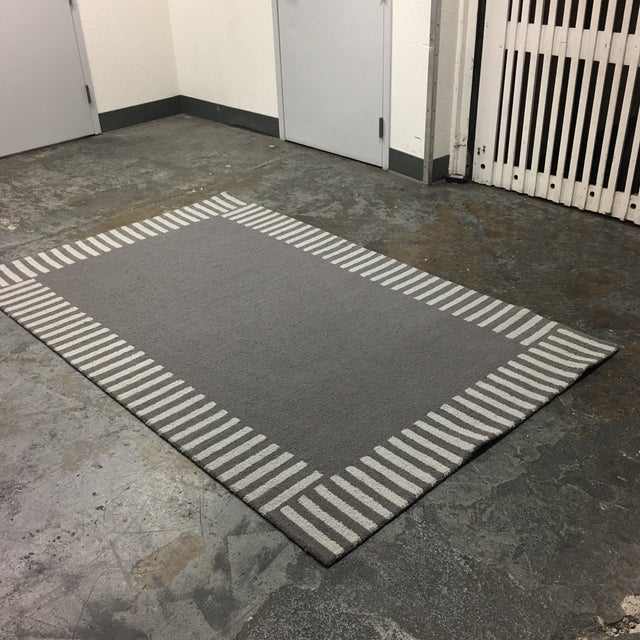 Gray Striped Area Rug - 5' x 8' - Image 7 of 9