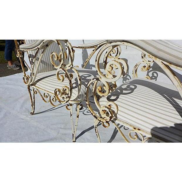 French Style Veranda Chairs - Pair - Image 6 of 7
