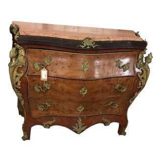 Antique Louis XV Style Bombe Chest