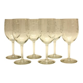 1950s Vintage Wine Glasses - Set of 6