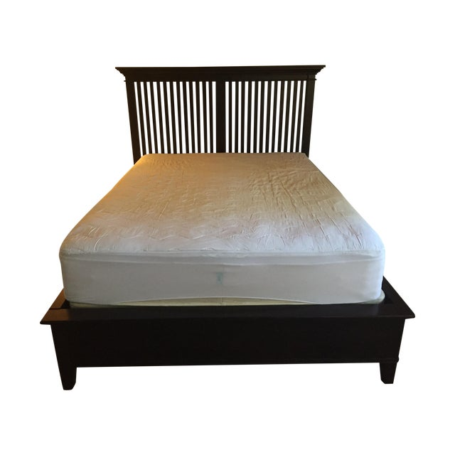 Crate and Barrel Queen Bed Frame - Image 1 of 7