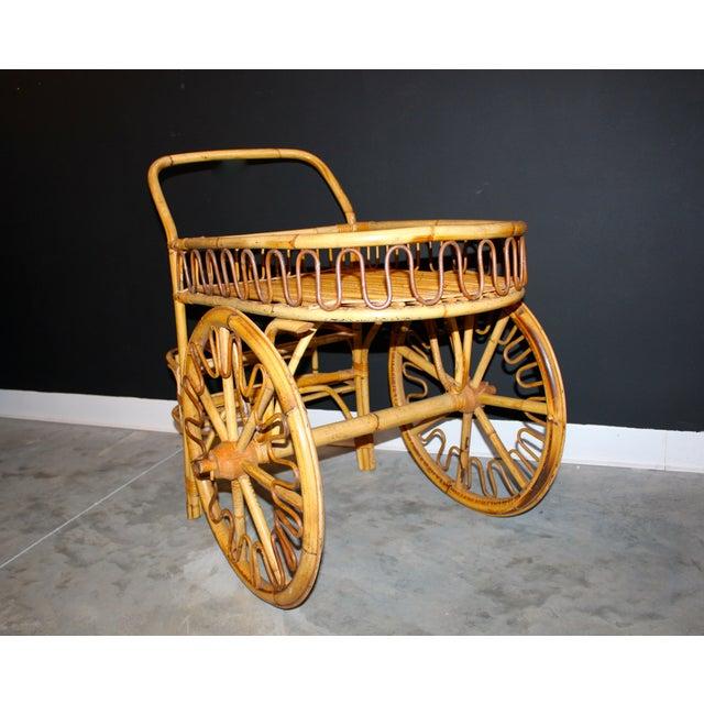 Rattan Bar Cart - Image 6 of 10