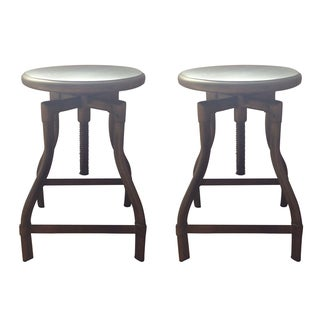 Crate and Barrel Turner Barstool - A Pair