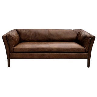 John Lewis Aniline Leather Sofa
