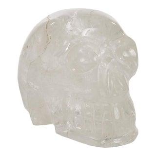 Vintage Rock Crystal Sculpture of a Skull