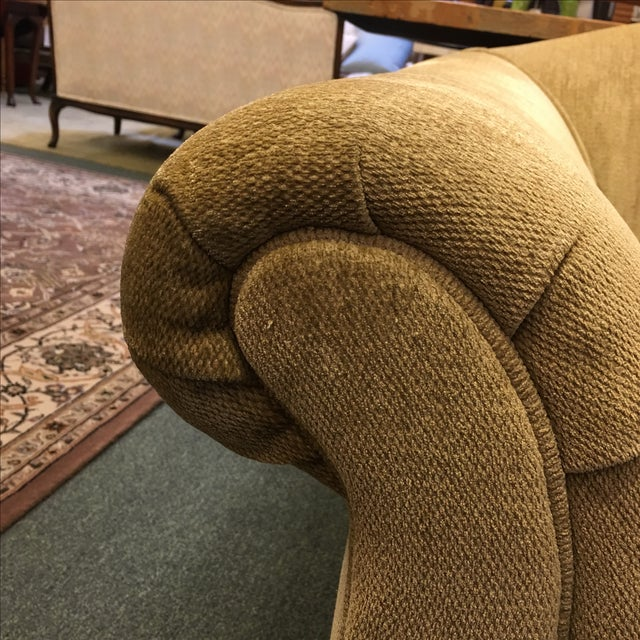 Two Upholstered Roll Arm Chairs & Ottoman - Image 8 of 8