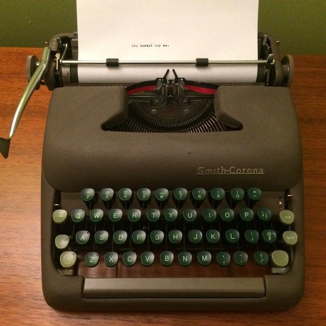 Vintage Smith-Corona Sterling Typewriter & Case - Image 7 of 8