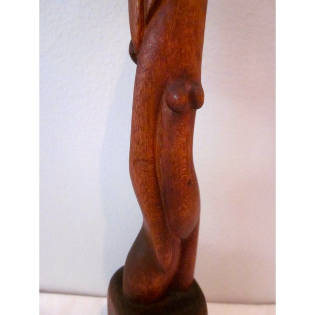 Image of Nimo Mocharniuk Wood Abstract Nude Sculpture