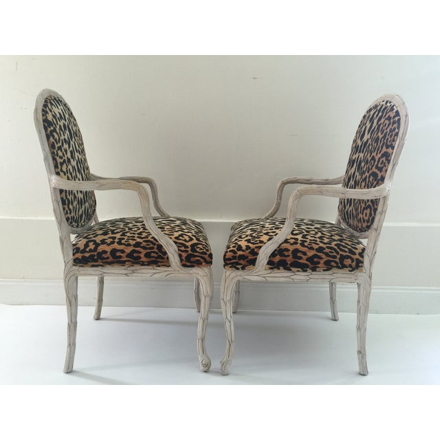 Italian Leopard Chairs - Pair - Image 4 of 6