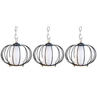 Set of Three Thurston Style Pendant Lamps