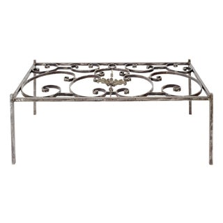 French Iron Grill Coffee Table