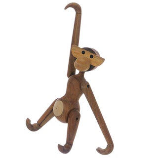 Vintage Carved Wooden Hanging Monkey