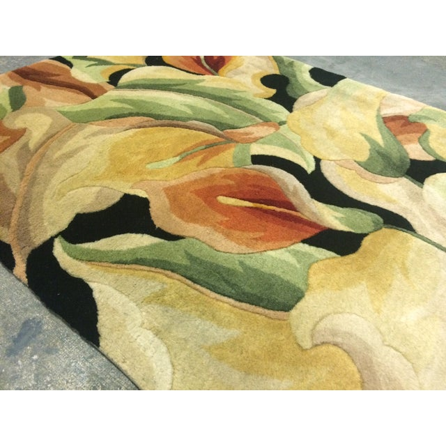"Image of Colorful Floral Rug - 3'3"" X 4'6"""