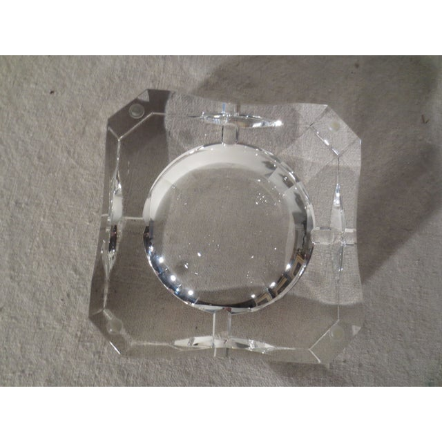 Clear Crystal French Ash Tray - Image 4 of 5