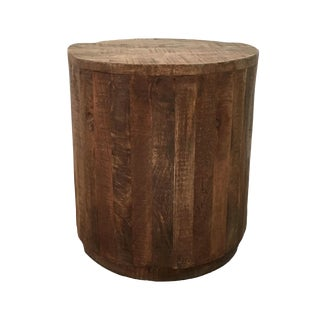 Organic Modern Mango Wood Accent Table