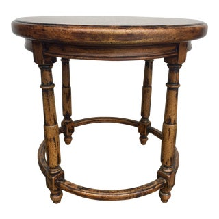 English Round Side Table