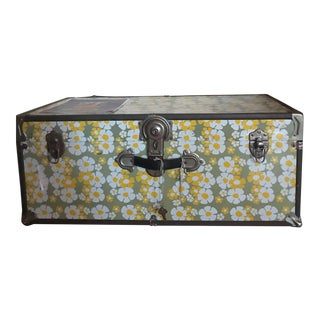 1960's Floral Locking Trunk