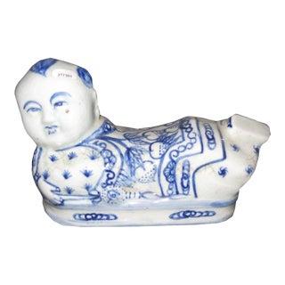 Blue & White Ceramic Head Rest