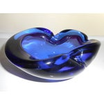 Image of Archimede Seguso Blue Sommerso Bowl