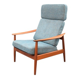 Vintage Arne Vodder for Cado Danish Modern Teak Recliner Chair