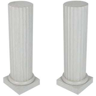 Painted Wood Columns- A Pair