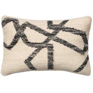 Loloi Abstract Black & Ivory Lumbar Pillow