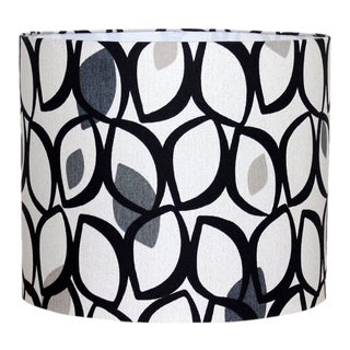 Black & Grey Drum Lamp Shade