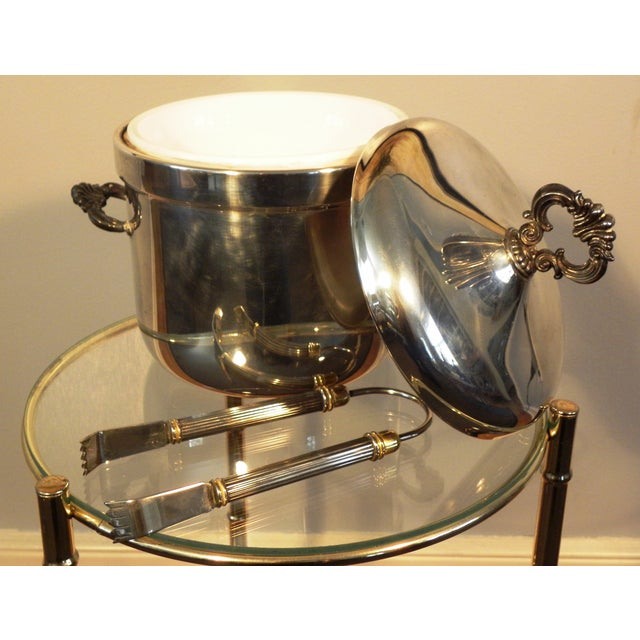 Vintage FB Rogers Silver Co. Ice Bucket W/ Tongs - Image 5 of 6