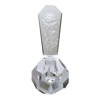 Facets Perfume Bottle with Intaglio Stopper