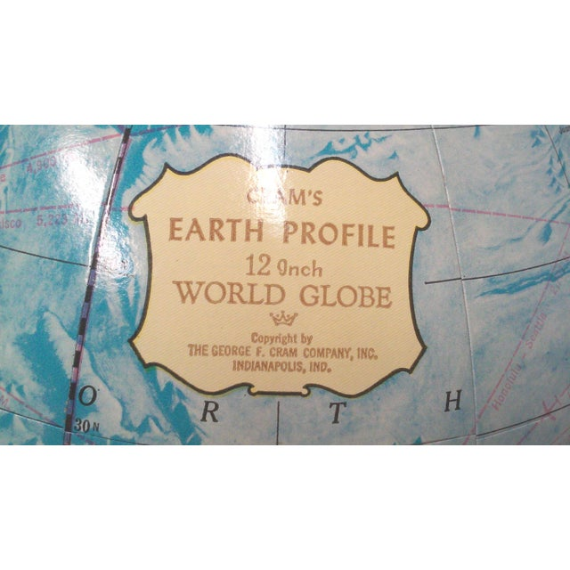 Crams Earth Profile World Globe - Image 6 of 9
